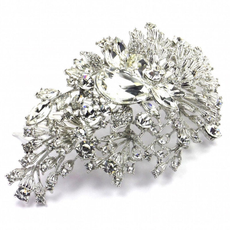 Crystal Extravagance Large Hair Comb-Hair Accessories-Bride Boutique