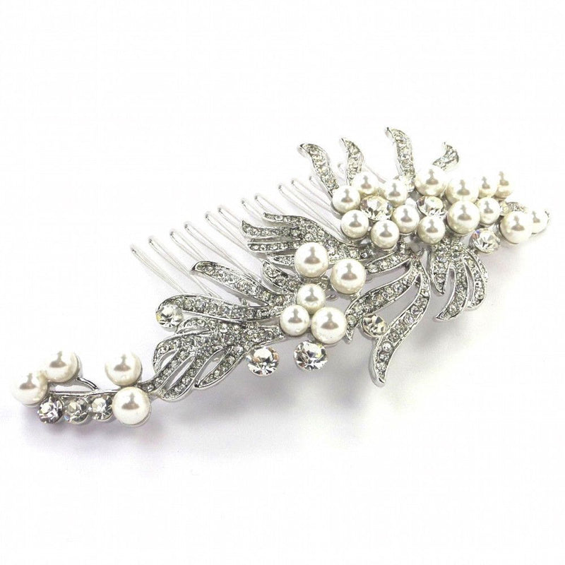 Vintage Deco Hair Comb-Hair Accessories Bride Boutique