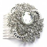 Grecian Glamour Vintage Hair Comb - Silver-Hair Accessories-Bride Boutique