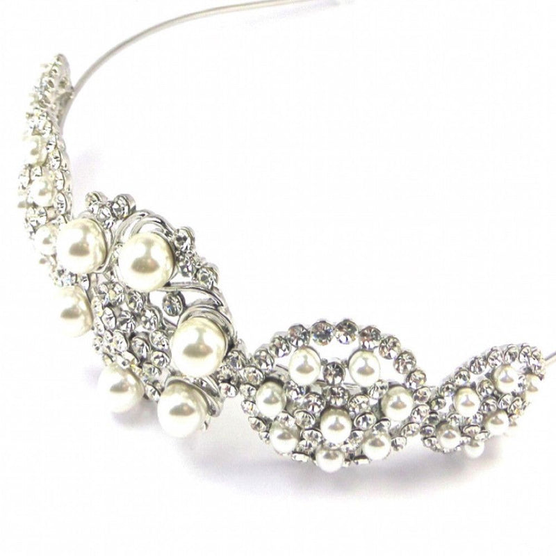 Pearl Treasure Bridal Headband-Hair Accessories-Bride Boutique