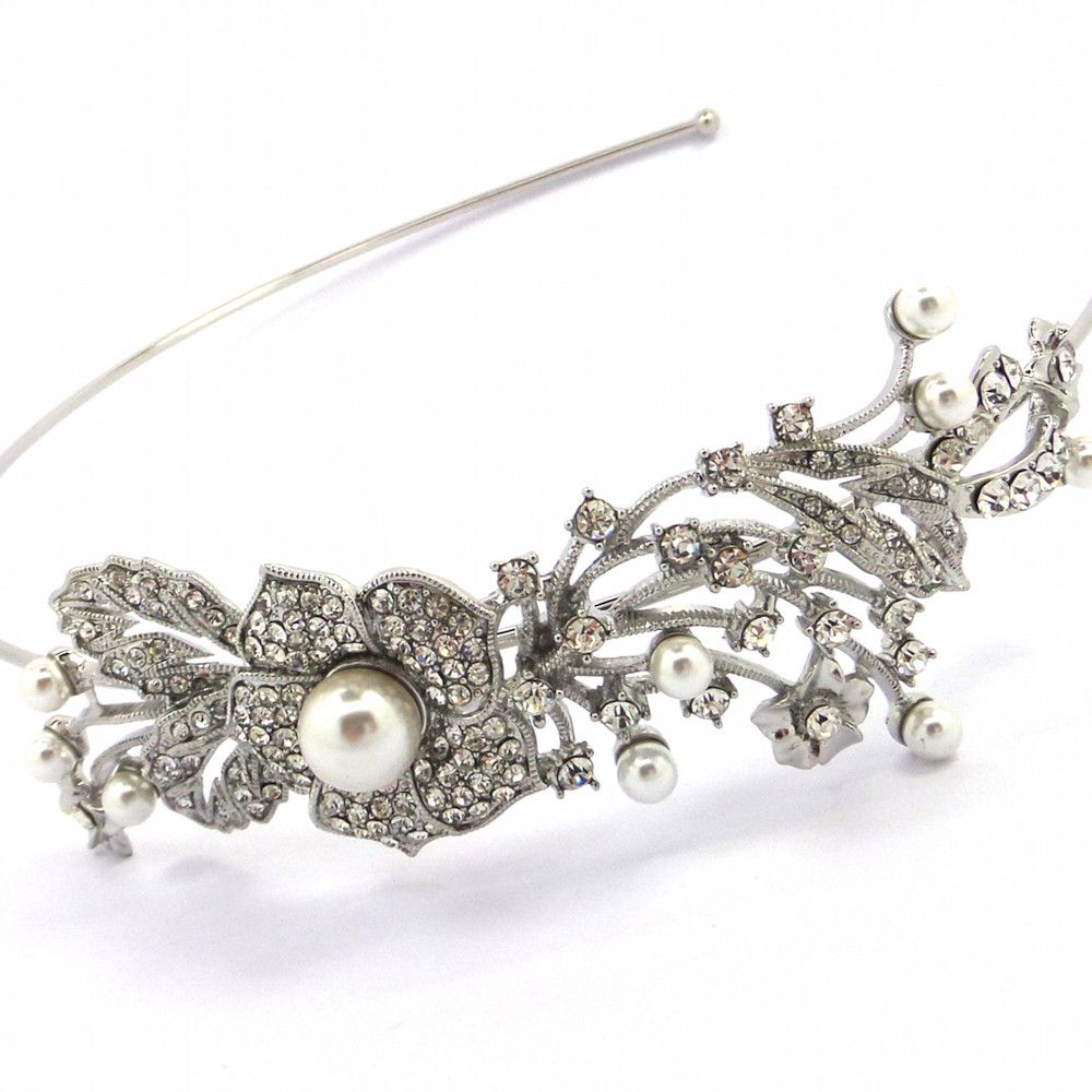 Flower Of Beauty Bridal Headband-Hair Accessories-Bride Boutique