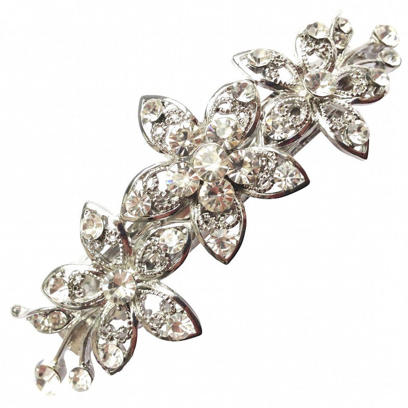 Flower Crystals Hair Clip-Hair Accessories-Bride Boutique