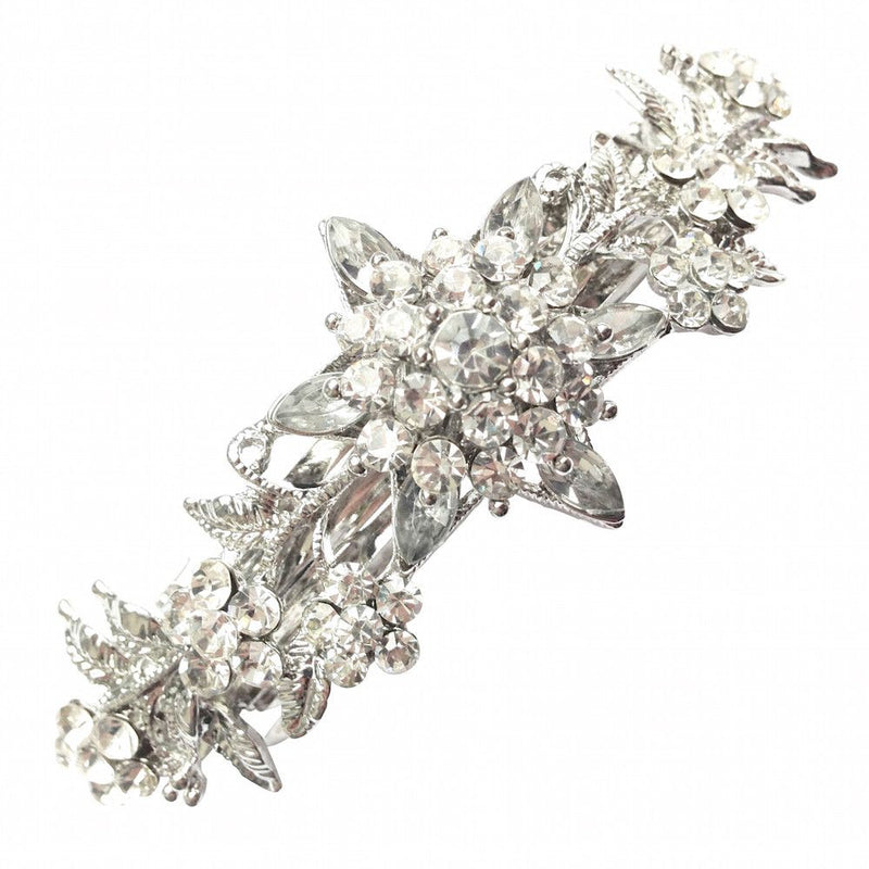 Crystal Blooms Hair Clip-Hair Accessories-Bride Boutique