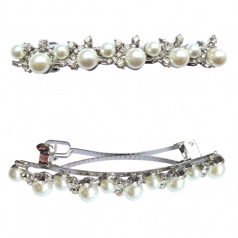 Graceful Beauty Pearl Hair Clip-Hair Accessories Bride Boutique