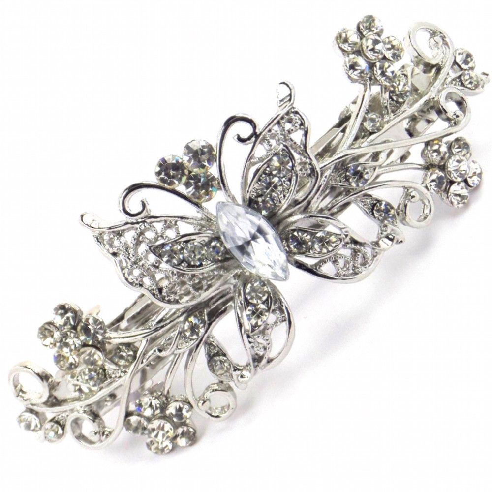 Vintage Butterfly Hair Clip-Hair Accessories-Bride Boutique