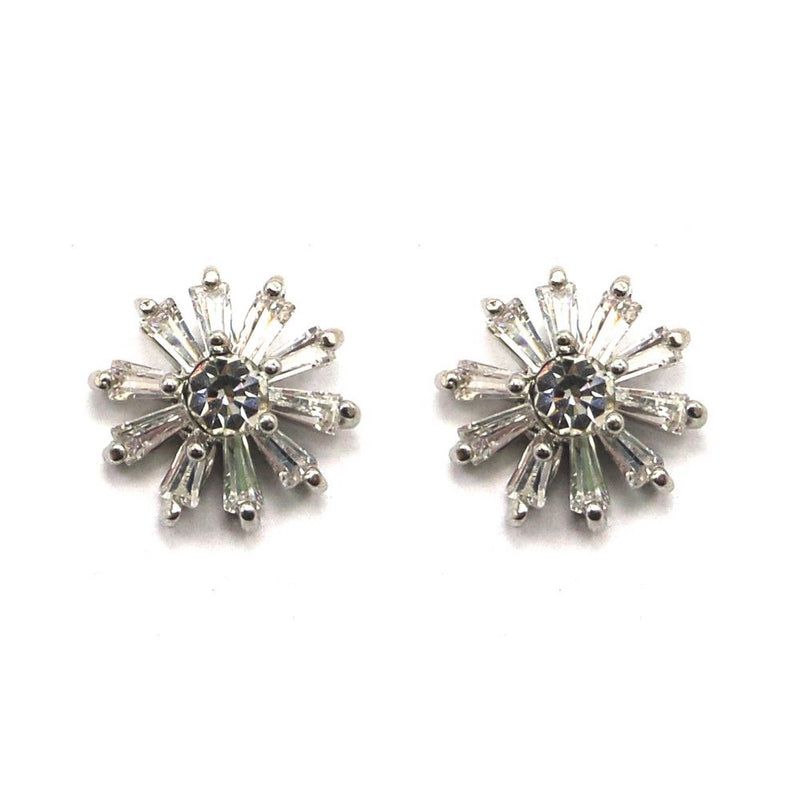 Crystal Snowflake Studs-Earrings-Bride Boutique