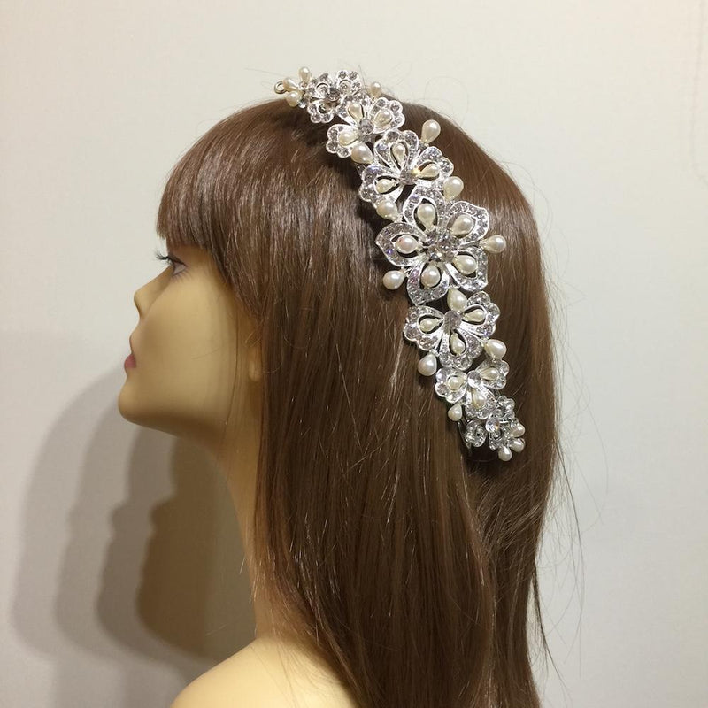 Vintage Flower Bridal Hair Vine-Hair Accessories-Bride Boutique