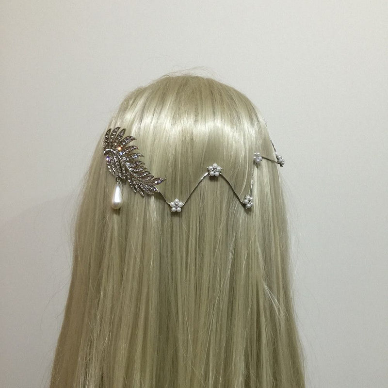 Leaves Of Love Hair Vine - Silver-Hair Accessories Bride Boutique