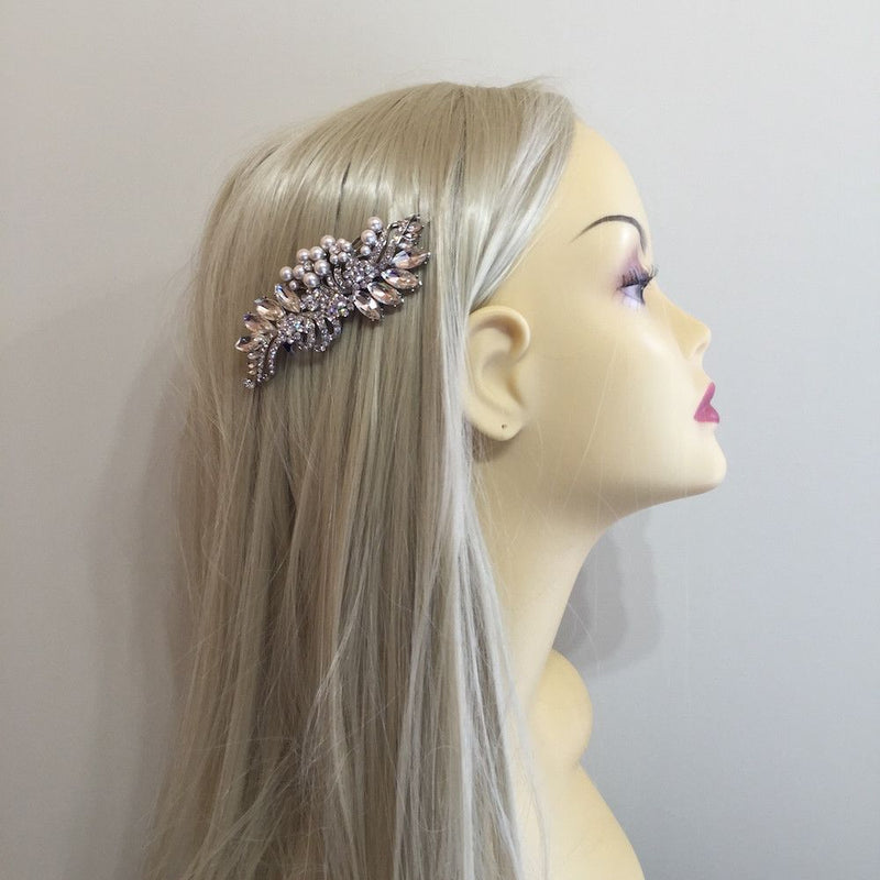 Crystal Decadence Bridal Hair Comb - Silver-Hair Accessories Bride Boutique