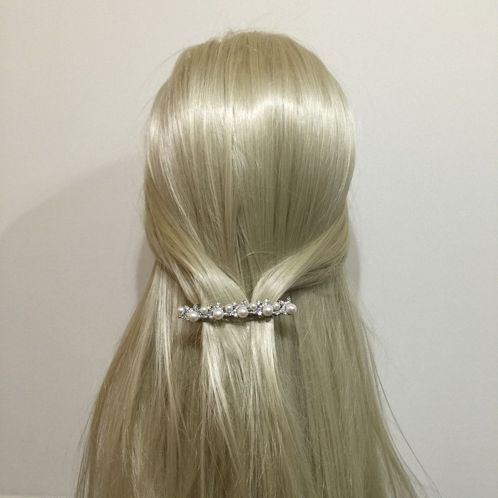 Graceful Beauty Pearl Hair Clip-Hair Accessories-Bride Boutique