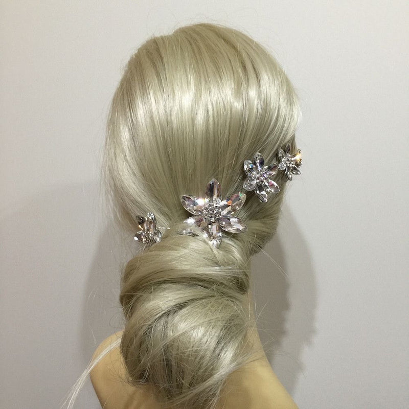 Crystal Flower Hair Vine-Hair Accessories-Bride Boutique
