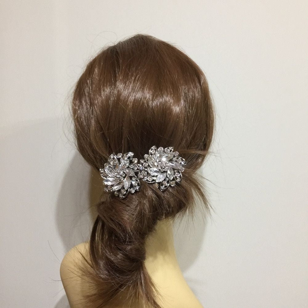 Petals Of Elegance Hair Pins-Hair Accessories-Bride Boutique