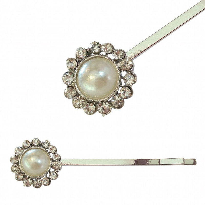 Vintage Pearl Hair Slides-Hair Accessories Bride Boutique