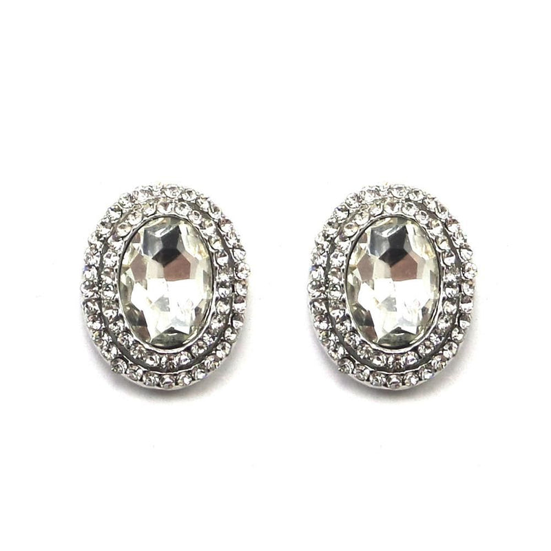 Crystal Treasure Stud Earrings-Earrings Bride Boutique