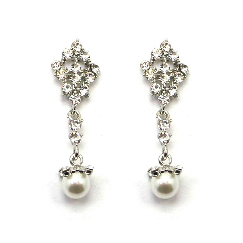 Graceful Beauty Drop Earrings-Earrings Bride Boutique