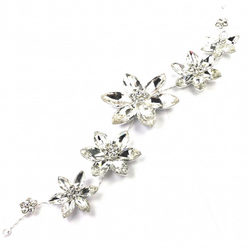 Crystal Flower Hair Vine-Hair Accessories Bride Boutique