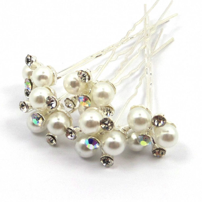 Three Pearl Hair Pins-Hair Accessories-Bride Boutique