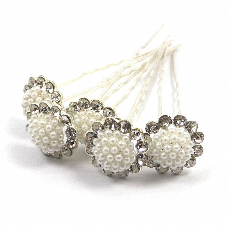 Pearl Treasure Hair Pins-Hair Accessories-Bride Boutique