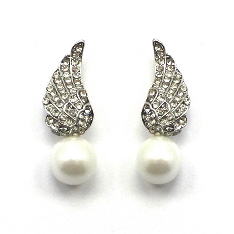 Vintage Angel Wing Studs-Earrings-Bride Boutique
