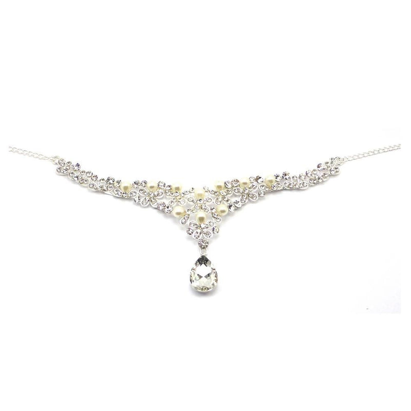 Crystal & Pearl Butterfly Headpiece-Hair Accessories-Bride Boutique