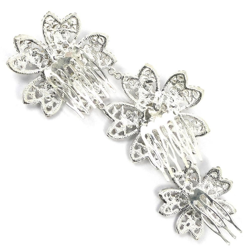 Sparkling Flowers Hair Comb-Hair Accessories Bride Boutique