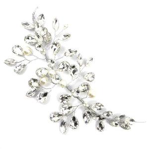 Bejewelled Crystal & Pearl Hair Vine-Hair Accessories Bride Boutique
