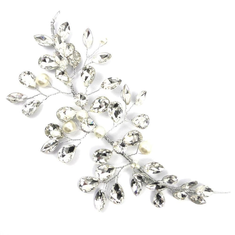 Bejewelled Crystal & Pearl Hair Vine-Hair Accessories-Bride Boutique