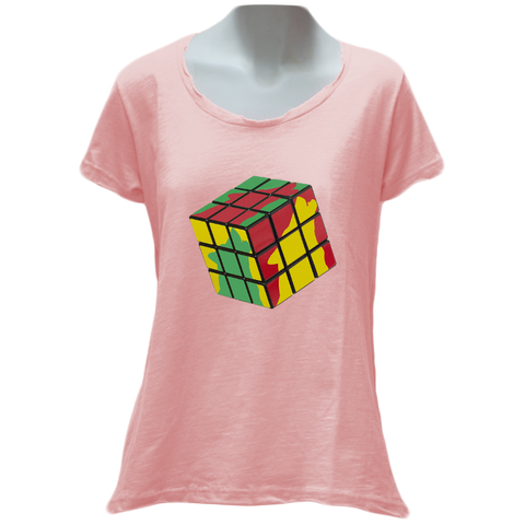 Wolfish Cube Ladies T-Shirt