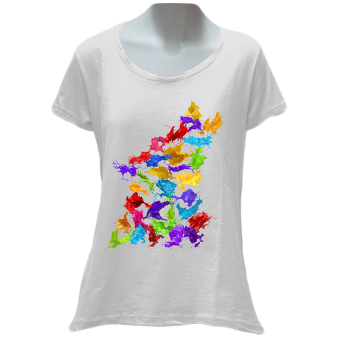 Wolfish Splash Ladies T-Shirt