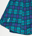 Men's Running Kilt - Green Blue Plaid