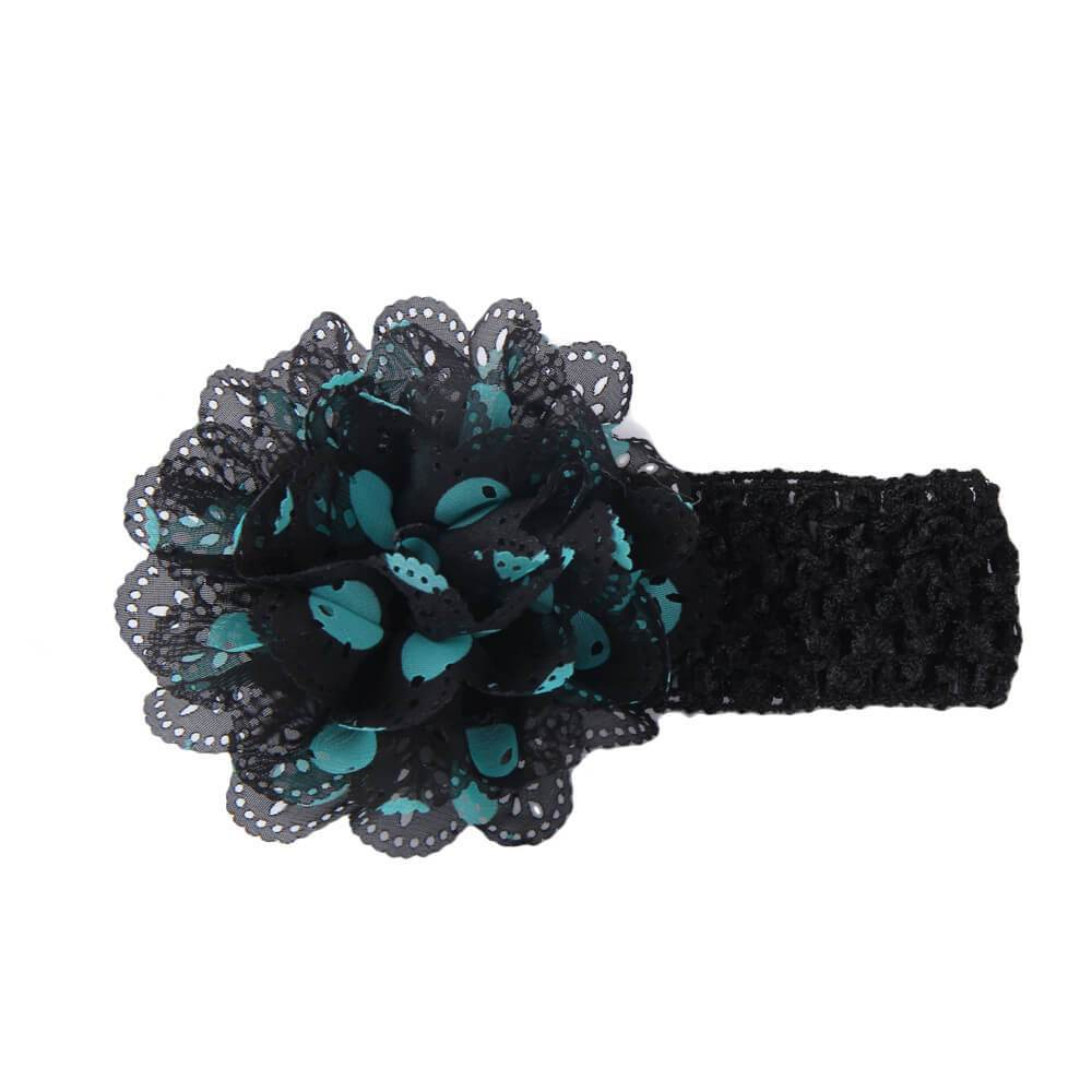 Gardenia Crochet hair band Black-Green