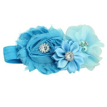 Bouquet hair band Light Blue