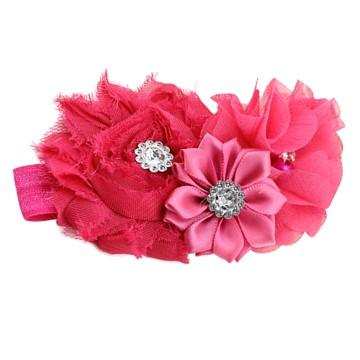 Bouquet hair band Dark Pink