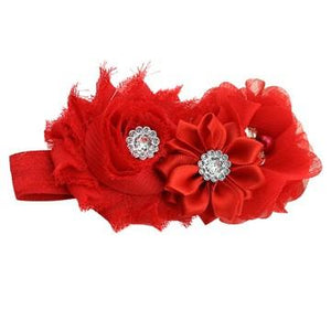 Bouquet hair band Red