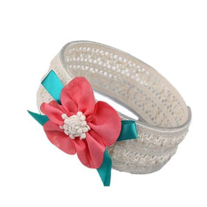 Flower bow hair band