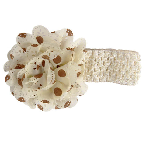 Gardenia Crochet hair band Ivory-Brown