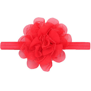 Dahlia hair band Red