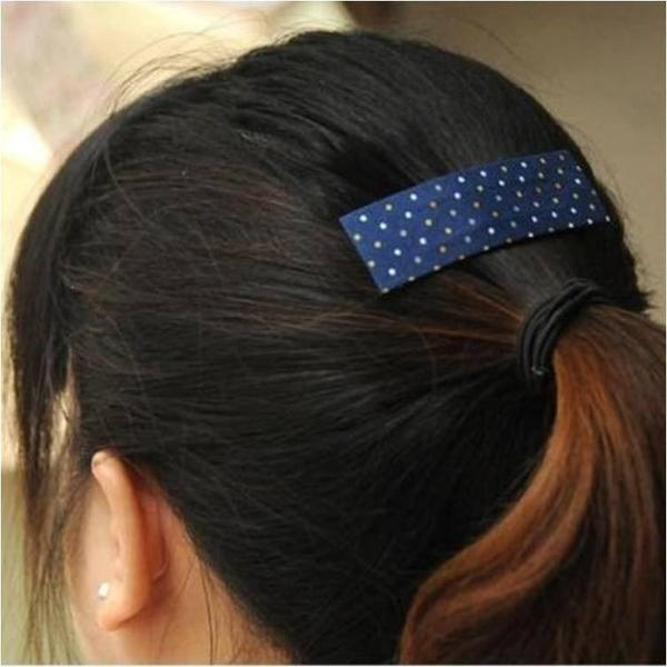 Polka Dot hair pin Mustard