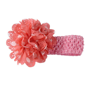 Gardenia Crochet hair band Dark Peach-White