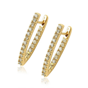 Cinderalla Hoop earrings Clear