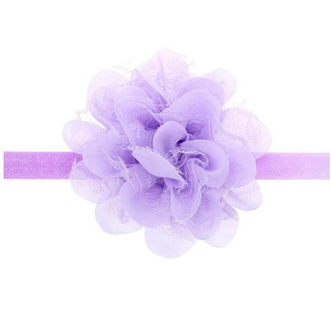 Dahlia hair band Purple