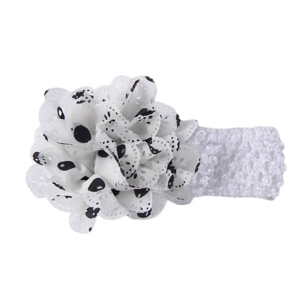 Gardenia Crochet hair band White-Black