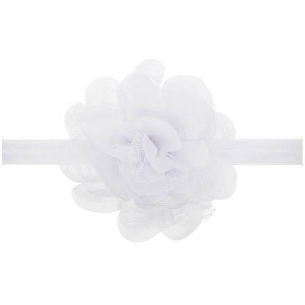 Dahlia hair band White