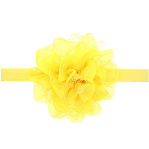 Dahlia hair band Yellow