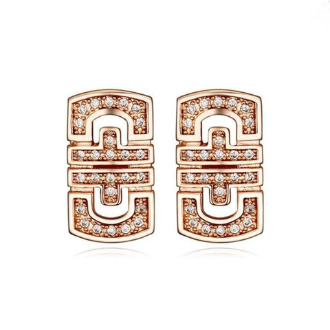 Pink Hippo Store Abstract Zircon earrings