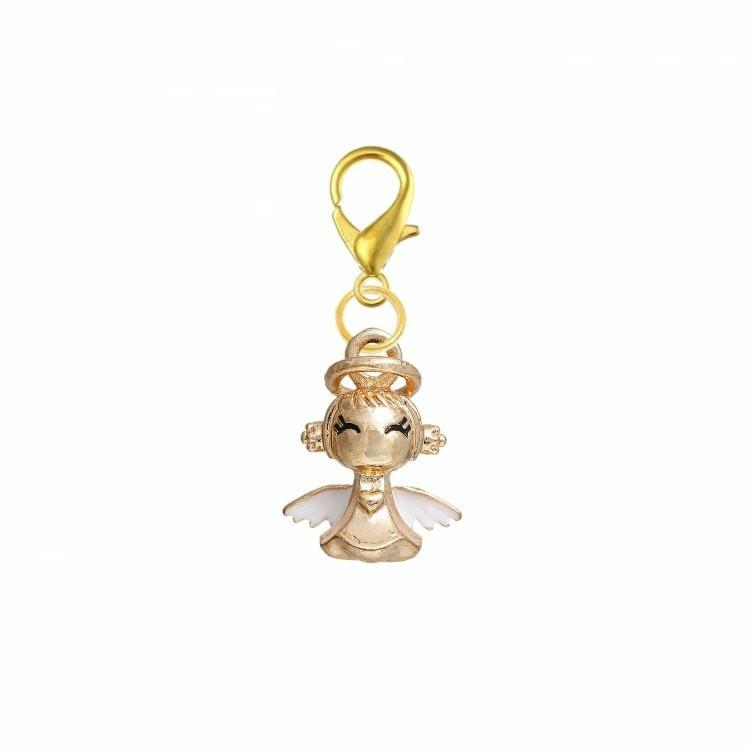 Pink Hippo Store Angel Gold Enamel charm
