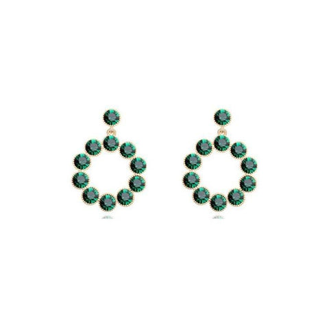 Pink Hippo Store Aura Crystal earrings Emerald