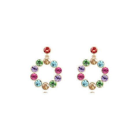 Pink Hippo Store Aura Crystal earrings Multi-color