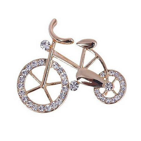 Pink Hippo Store Bicycle Rhinestone brooch