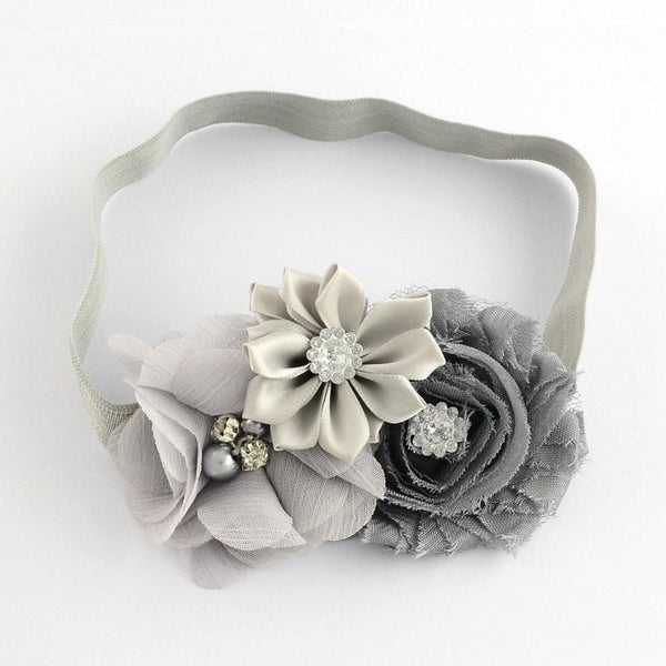 Pink Hippo Store Bouquet hair band Grey Grey